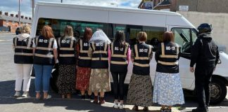 Line of Duty hen party posing   Marriage News UK