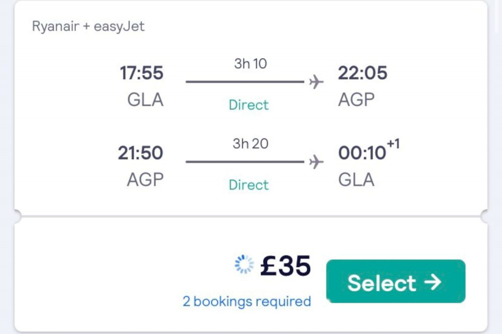 Glasgow-Malaga return flight price - Scottish Travel News