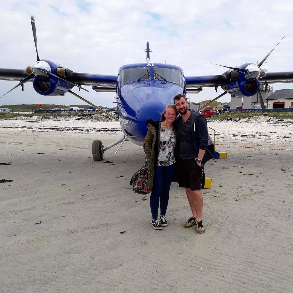 Jamie Forde and Anna Pond beside the plane   Scottish News