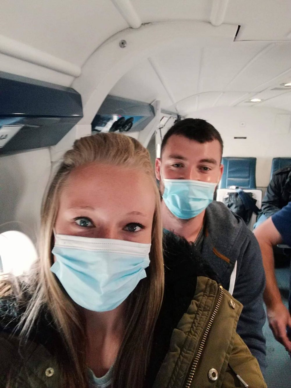 Jamie Forde and Anna Pond on their flight home   Scottish News