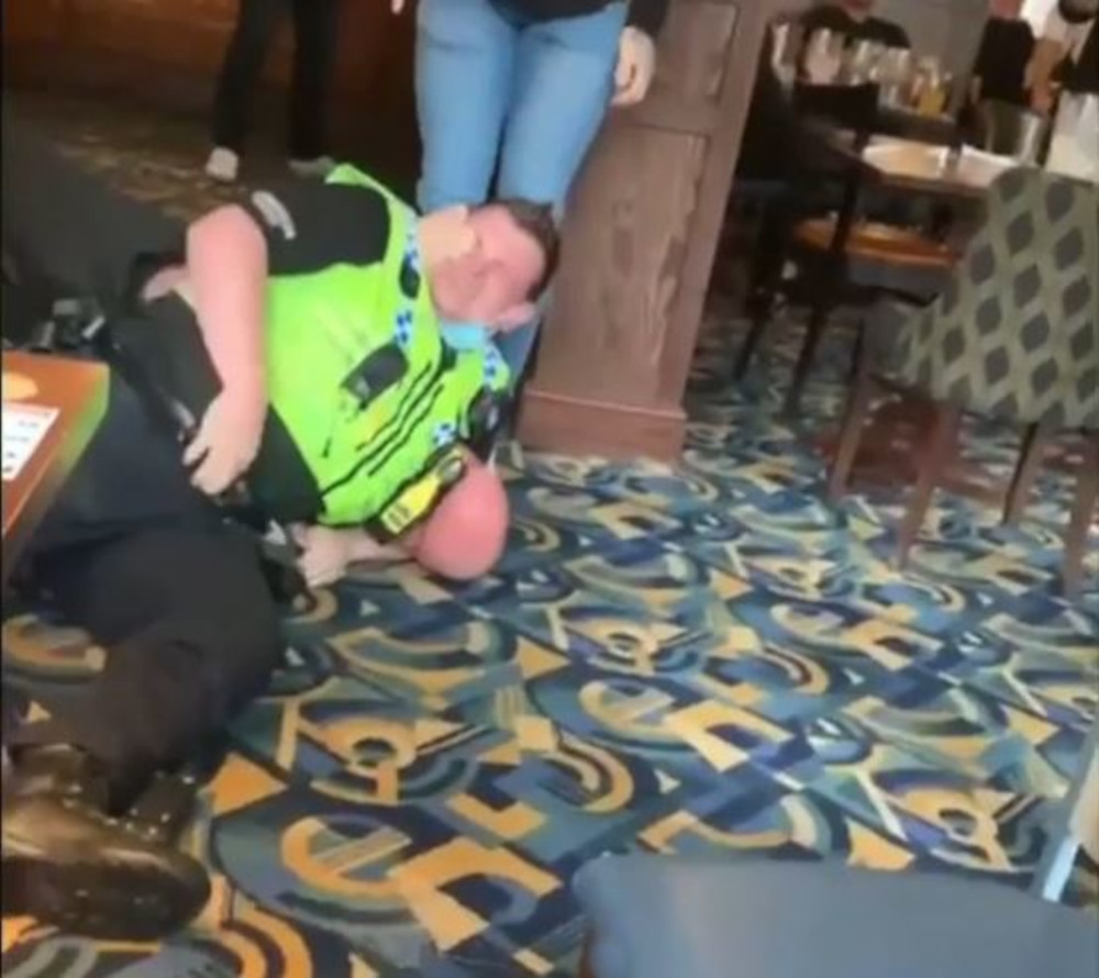 Arresting officer's eye being gouged by restrainee - Police News UK