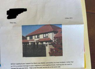 Letter objecting to Black Lives Matter poster   Community News UK