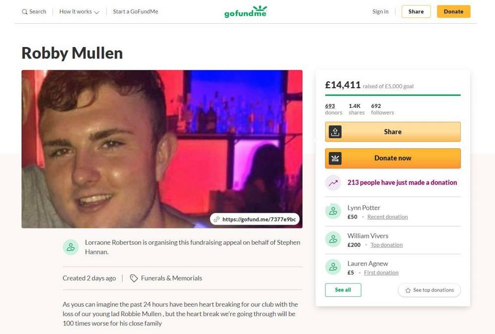 Fundraiser for Robbie Mullen's family | Scottish News