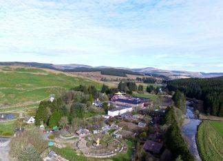 An aerial view of Samye Ling - Law News Scotland