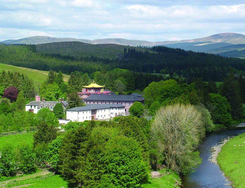 Aerial shot of Samye Ling - Law News Scotland