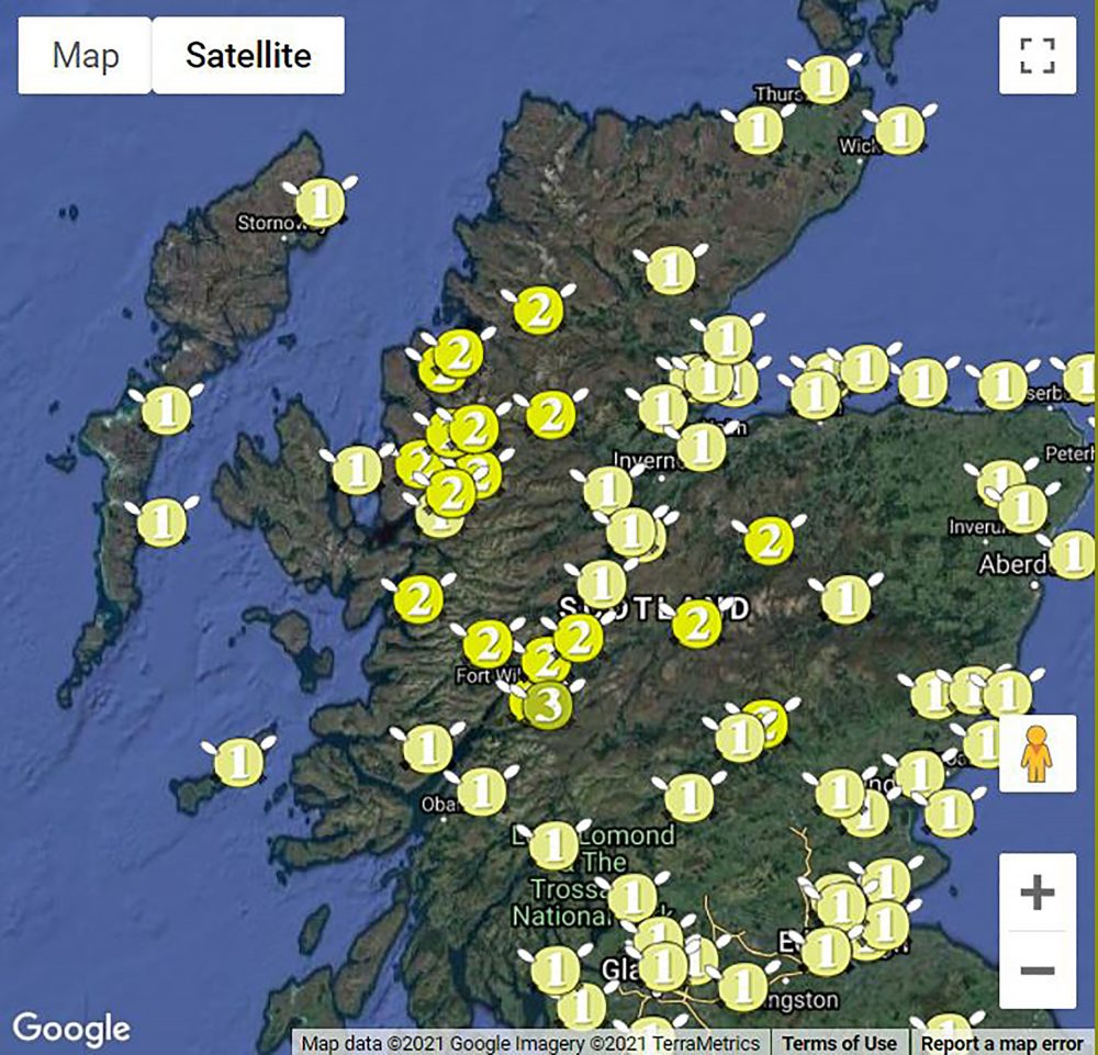 Midge map 2021   Scottish News
