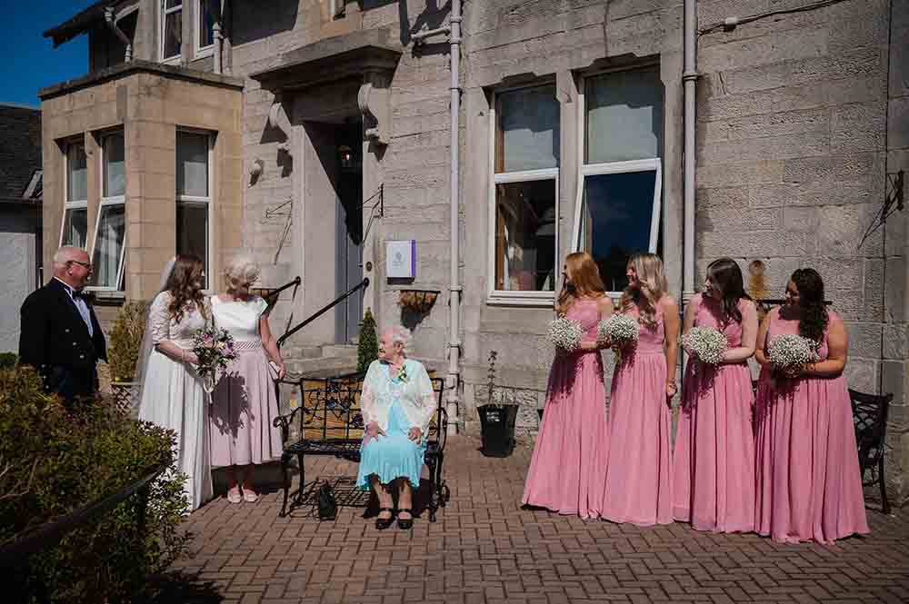 Scots bride reunited with her gran after months apart - Scottish News