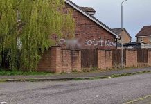 The disgusting graffiti on the side of the house| Crime news UK