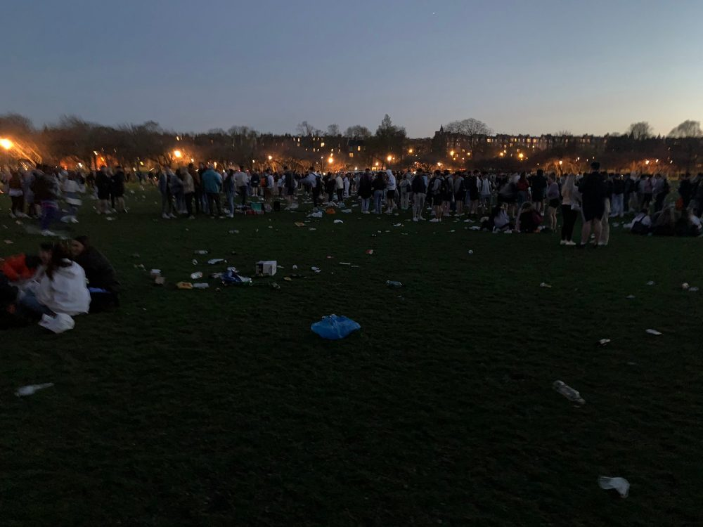 large groups of people littering in the meadows| Environment News