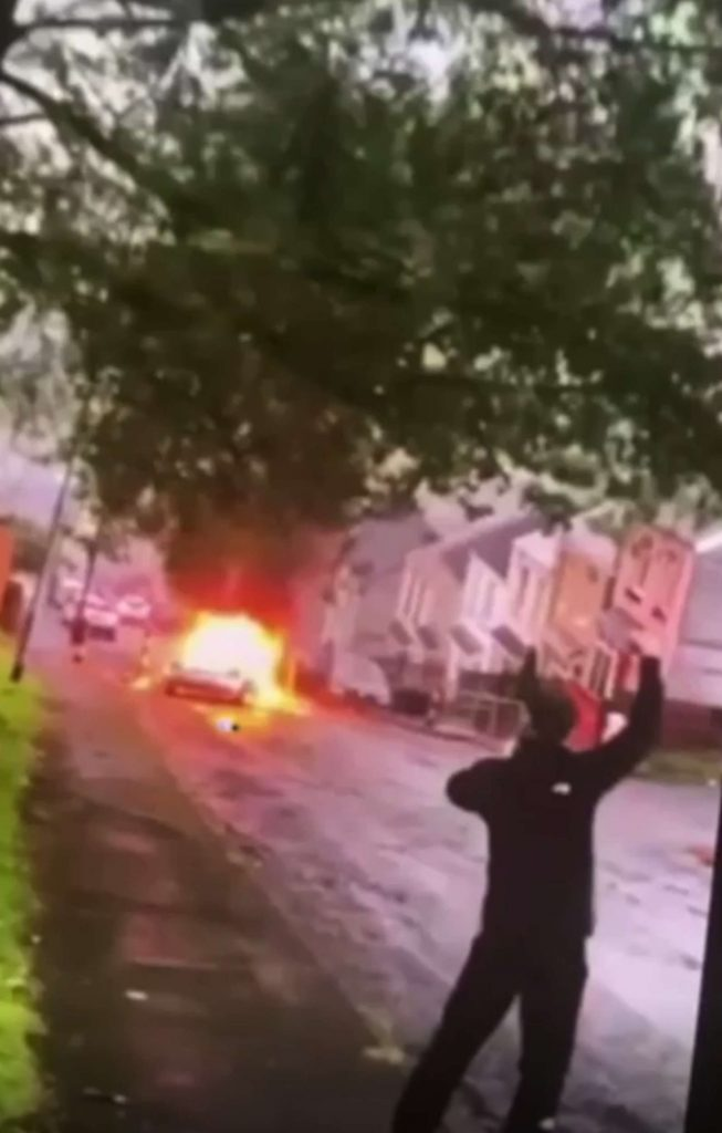 hocking video shows riots break out after vigil for young footie - UK News