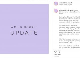 White Rabbit Healing screenshot - Health News Scotland