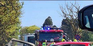 Burnt cars after A933 Car Crash - Travel News Scotland