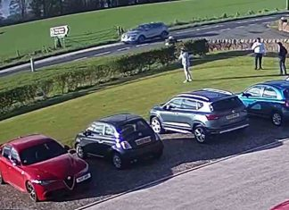 Video shows yobs smash car window with golf ball in driving range - Scottish News