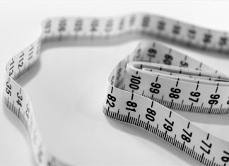 A measuring tape