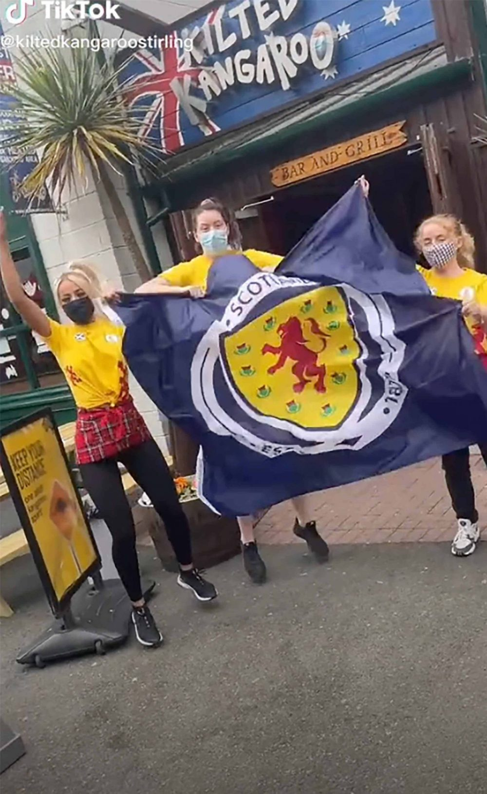 The bar staff ready for the Euros - Scottish hospitality news