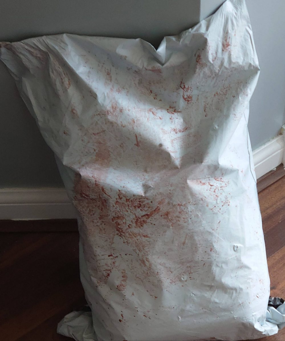 The blood covered Hermes parcel   Consumer News Scotland