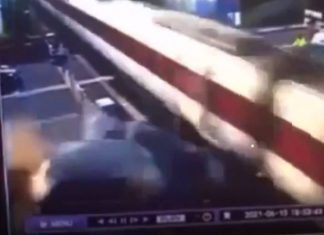 Car colliding with the train | Transport News UK