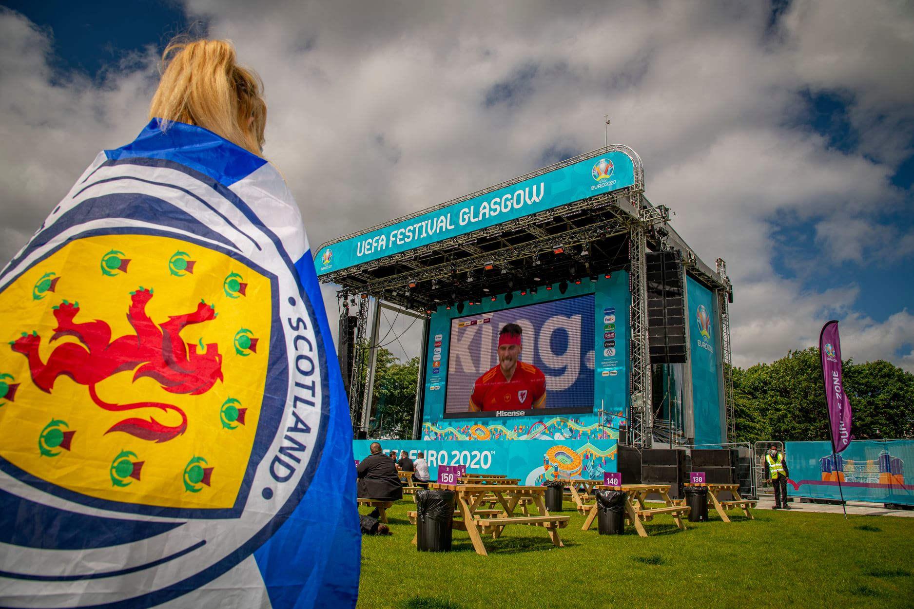 Euro 2020 fan zone stage- football news Scotland