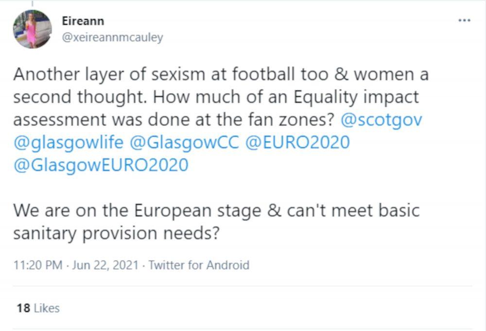 Eirrean McAuley sexism Euro 2020 tweet - football news Scotland