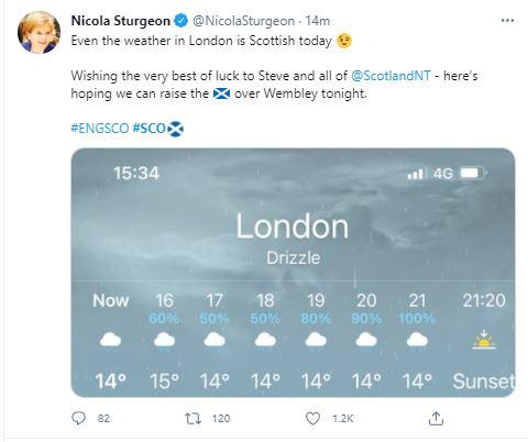 Nicola Sturgeon's Tweet - Scottish News