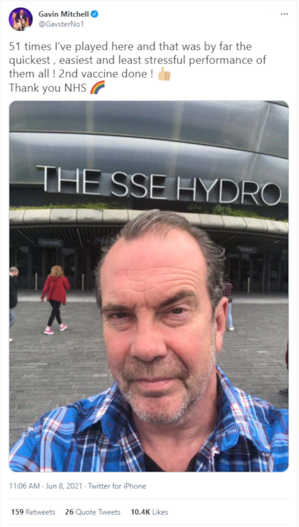 Gavin Mitchell Vaccine Post - TV News Scotland