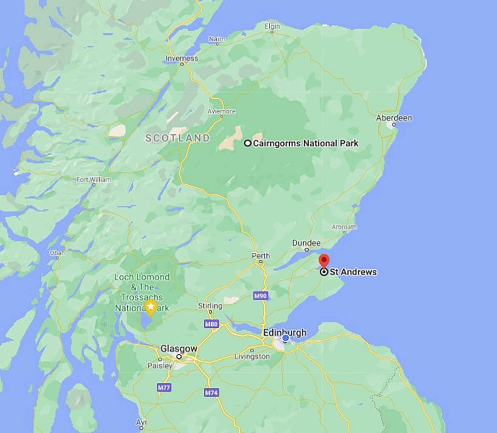 The correct map of Scotland - Scottish News