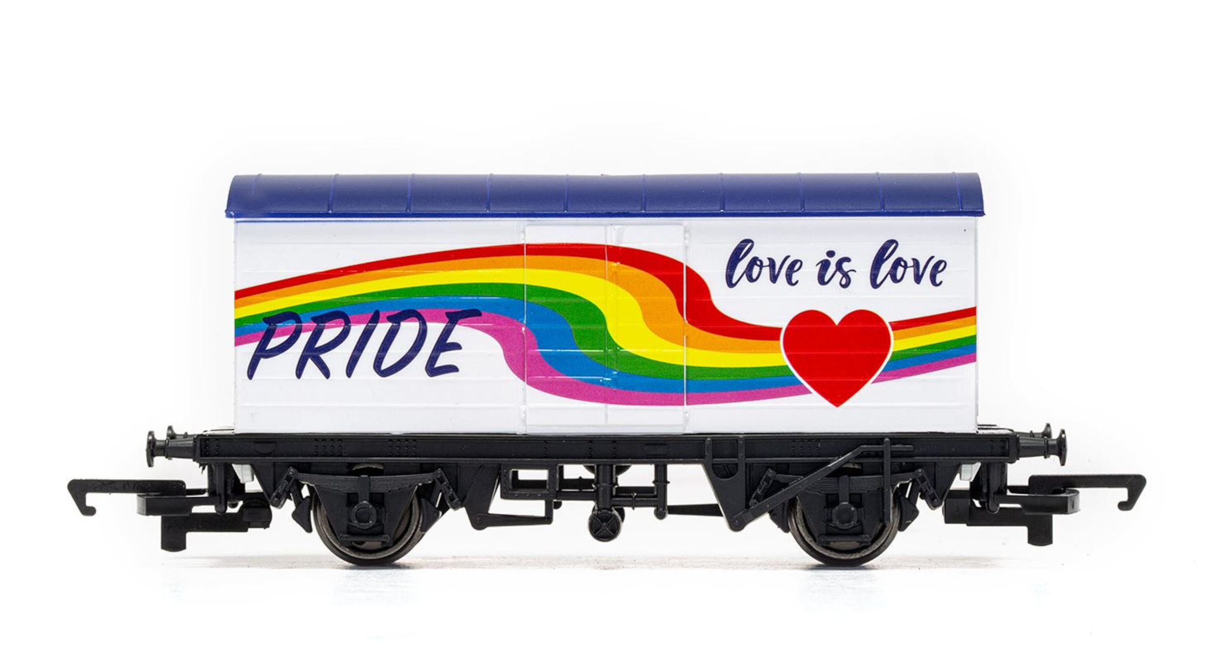 A close-up shot of the Hornby LGBTQ+ wagon - Consumer News UK