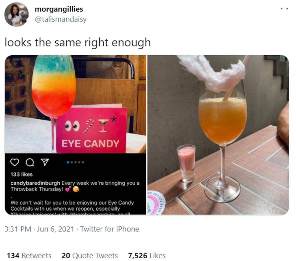 Morgan Gillies comparison tweet   Consumer News Scotland