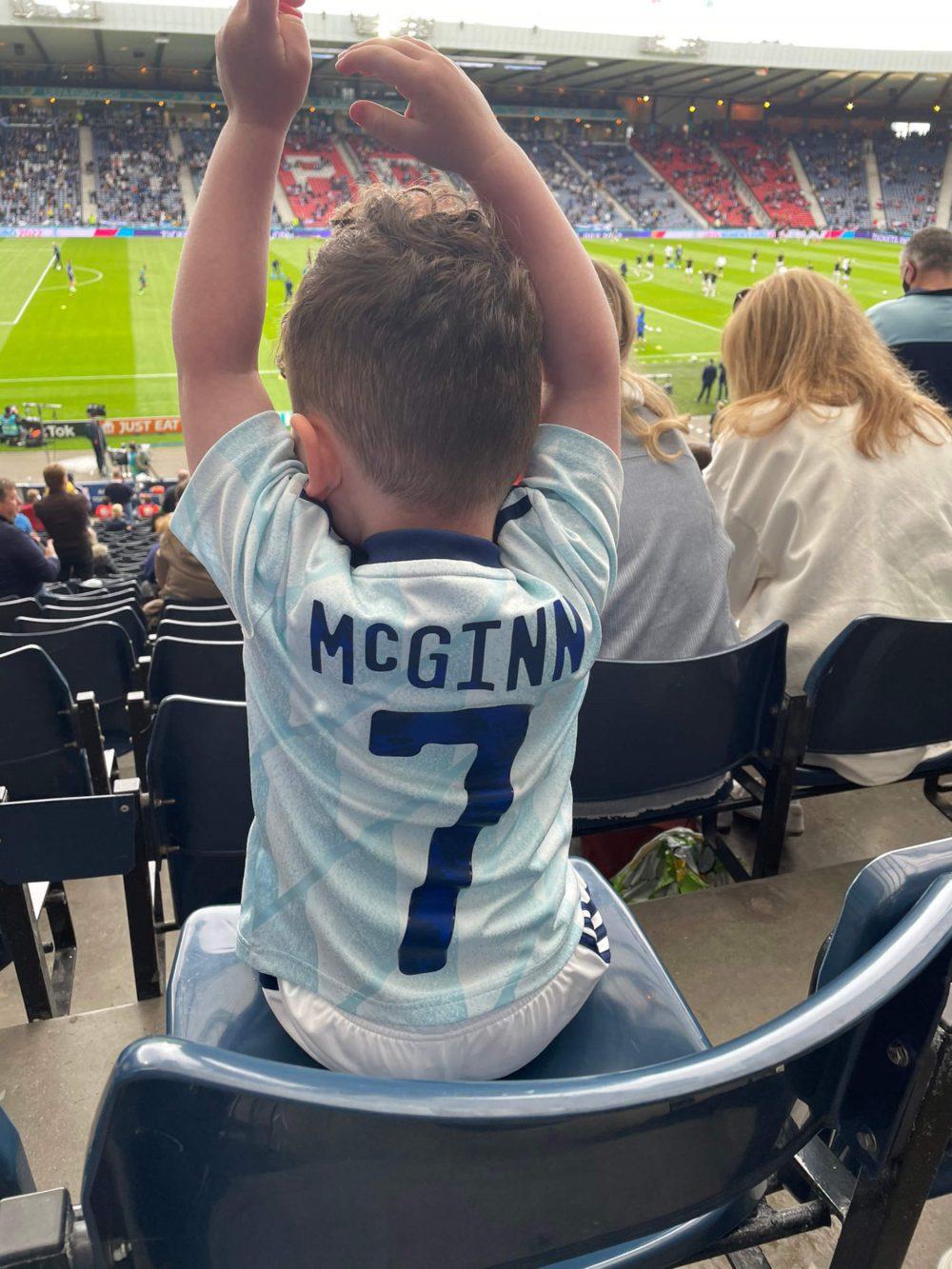 Young Scotland fan in McGinn shirt | Scottish Football News