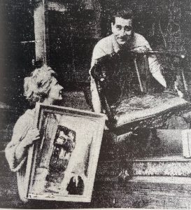 Johnny Beattie and wife Kitty Lamont with Whone's Glasgow Tram painting - Scottish News