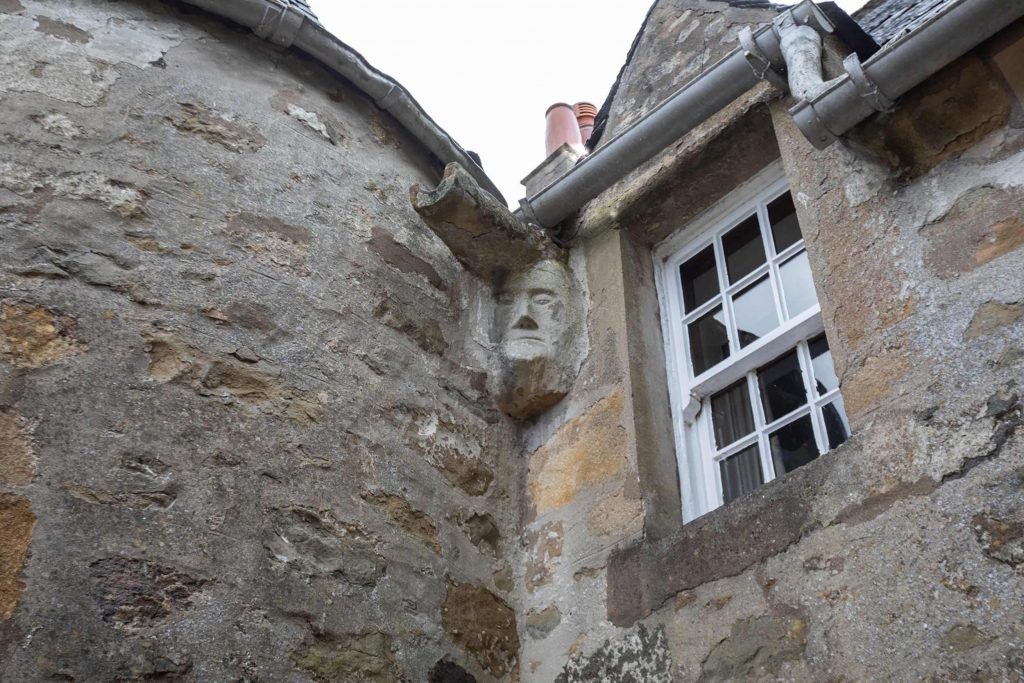 A death mask carved into the wall - Scottish Property News