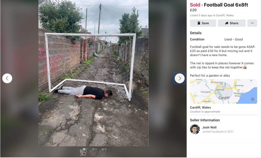 Josh Wall goalposts marketplace post- football news UK