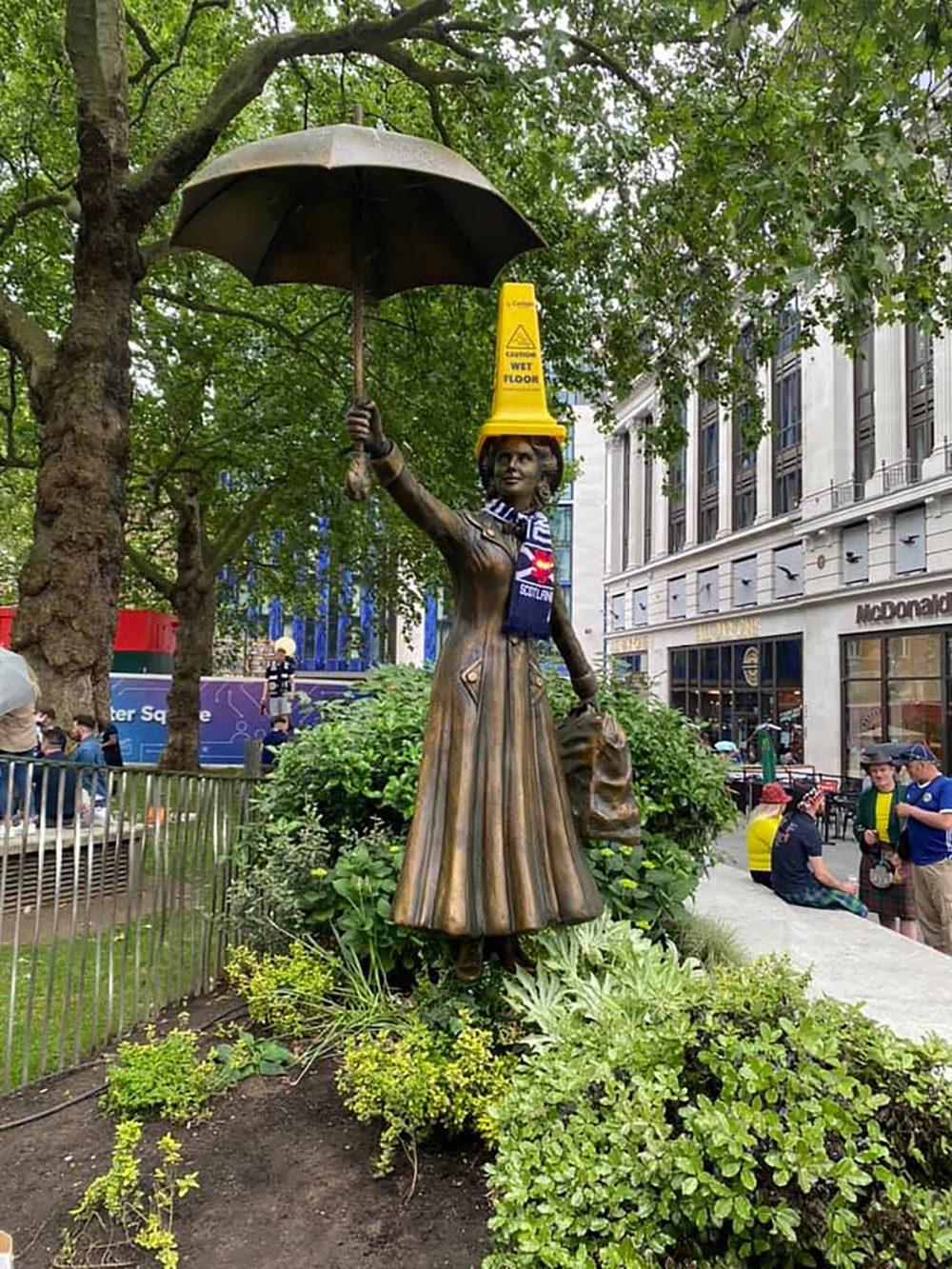 Mary Poppins with Scottish Bottle   Scottish News