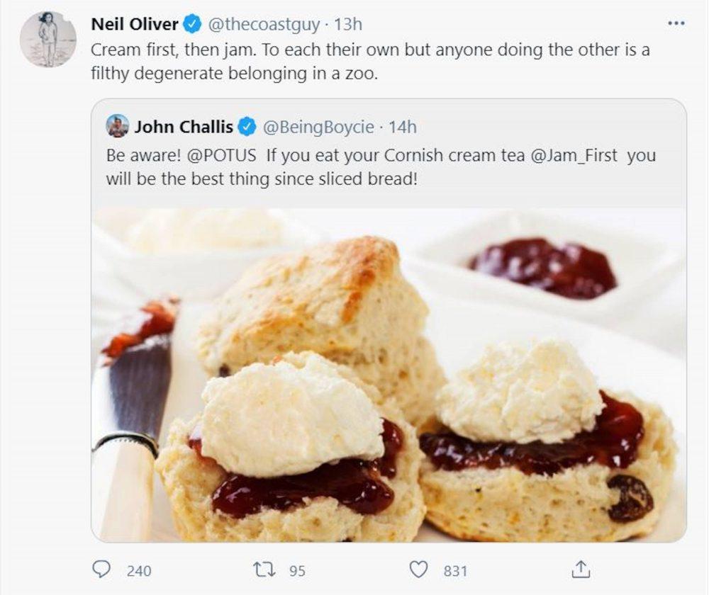 Neil Oliver's scone tweet   Scottish News