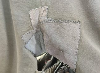 The trouser crotch with four patches   Consumer News UK