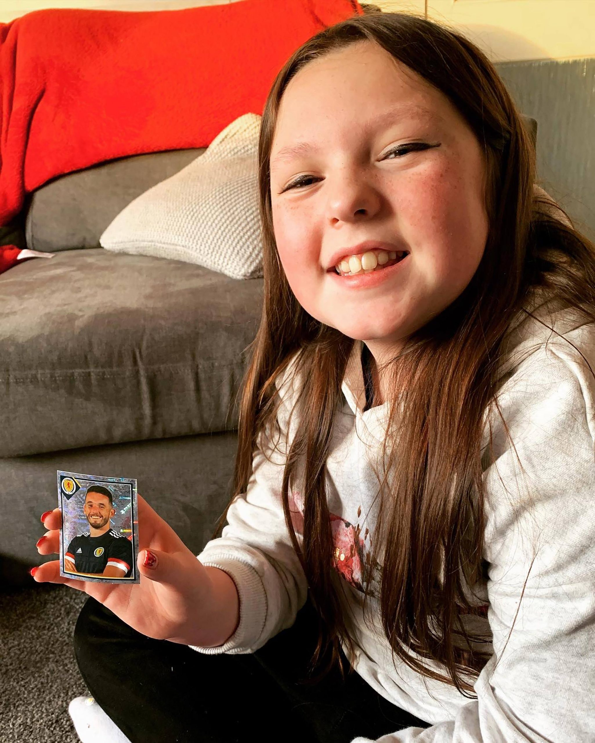 Poppy has been collecting stickers of the squad - Scottish Football News