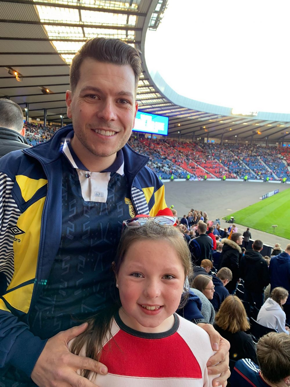 The father-daughter duo are buzzing for the upcoming games - Scottish Football News