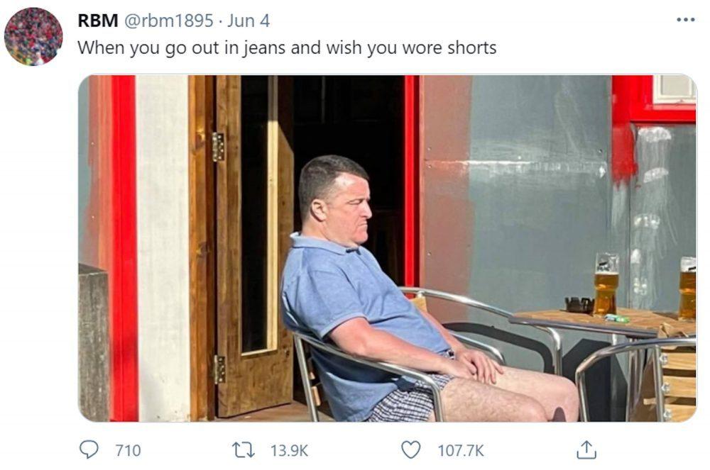 Man with trousers down sunbathing tweet | Scottish News