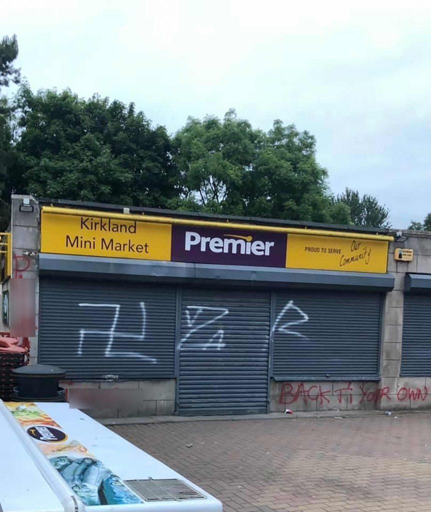 The Fife shop covered in graffiti - Scottish Crime News