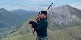 Piper Grant MacLeod atop Stob Bàn | Scottish News
