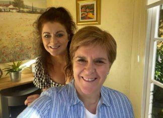 Nicola and Gill Sturgeon selfie   Politics News UK