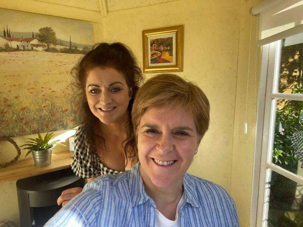 Nicola and Gill Sturgeon selfie | Politics News UK
