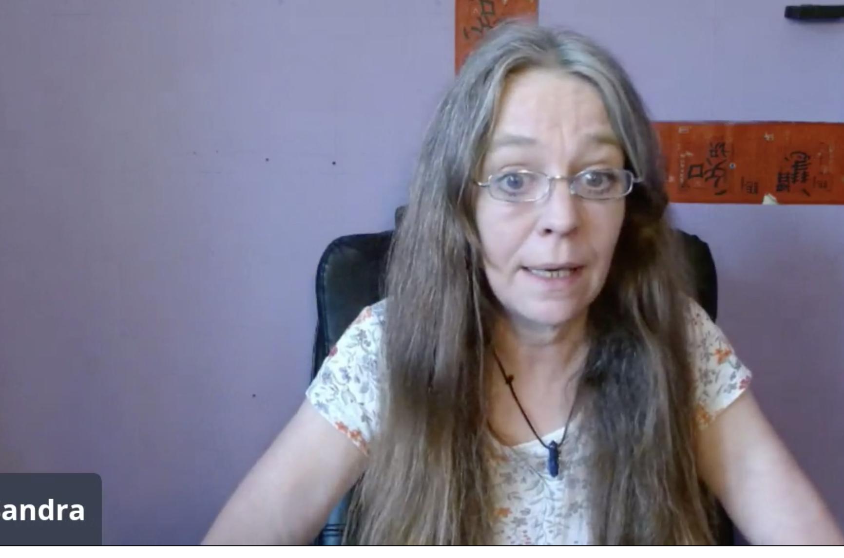Dr Sandra Lean on the live stream - Scottish Crime News