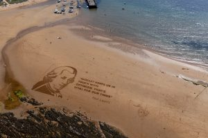 Mozart carved into the sand - Scottish News