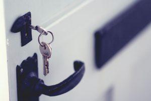 set of keys in door lock - Scottish News