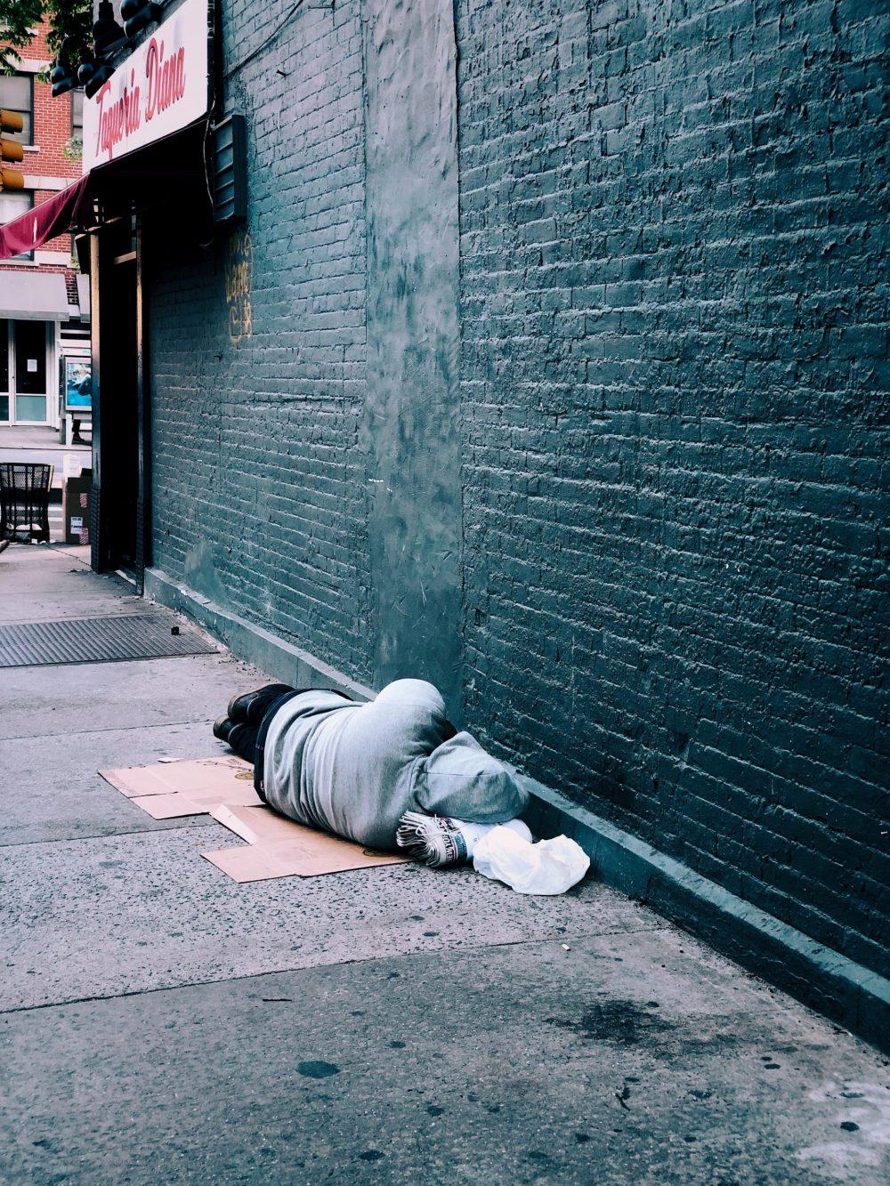 homeless person on box| Politics News Scotland