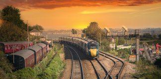 train with sunset |Transport News Scotland