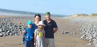The family of four at the beach - Devon News