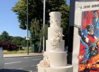 Wedding cake on top of bin   London News