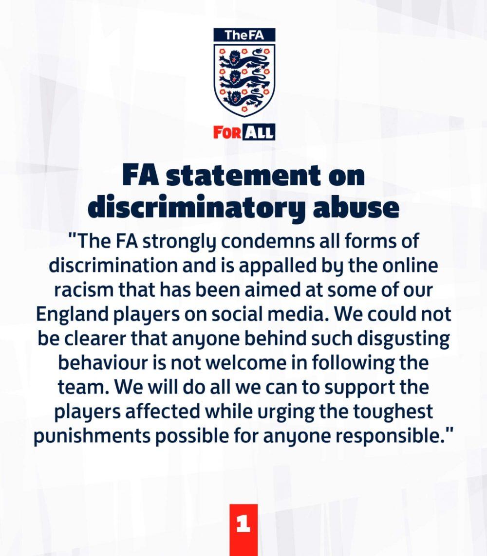 FA anti-racism statement - Football News UK
